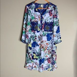 Fig and Flowers Size XL Long Sleeve Blouse